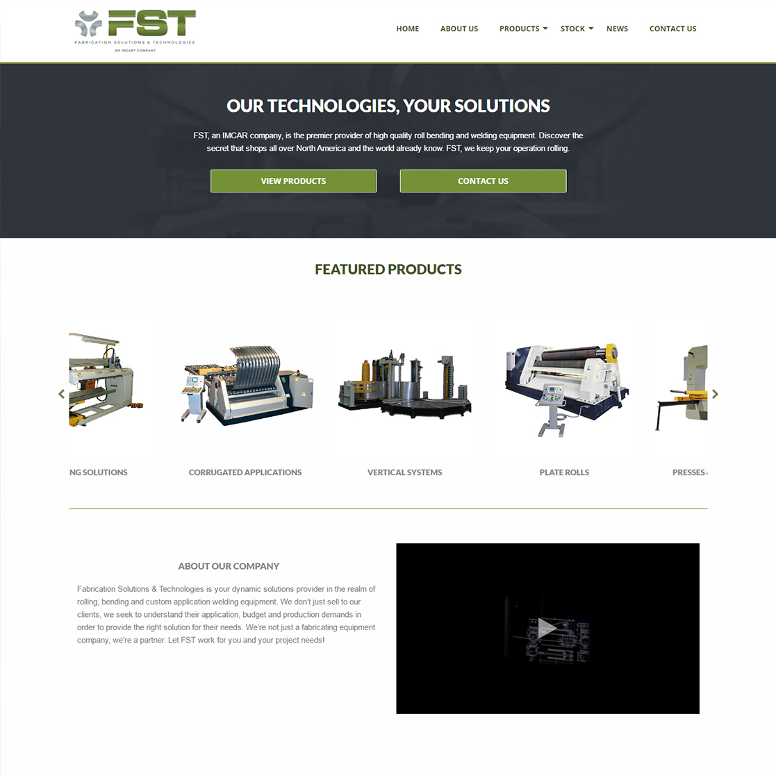 Fabrication Solutions & Technologies - Logo & Web Design Longview Texas